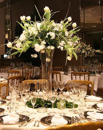 Tall white centerpiece | Weddings | Pinterest | White centerpiece ...