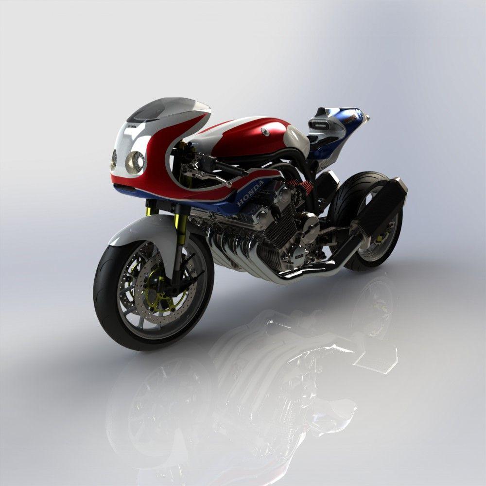 1000 cbx r par greg model de moto type caf racer quip d 39 un moteur 6 cylindres de 1000 cbx. Black Bedroom Furniture Sets. Home Design Ideas