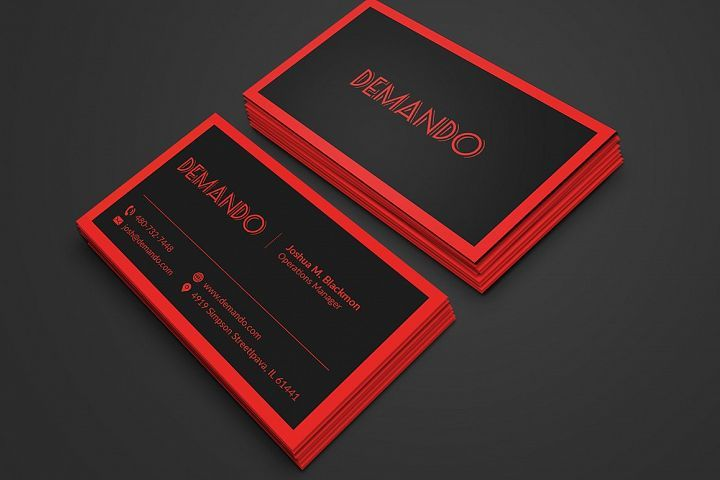 Black And Red Business Card 29814 Business Cards Design Bundles Red Business Cards Letterpress Business Cards Modern Business Cards