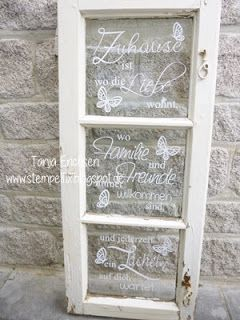 Im www gibt es so viele wunderbare texte weisheiten for Gartendeko altes fenster
