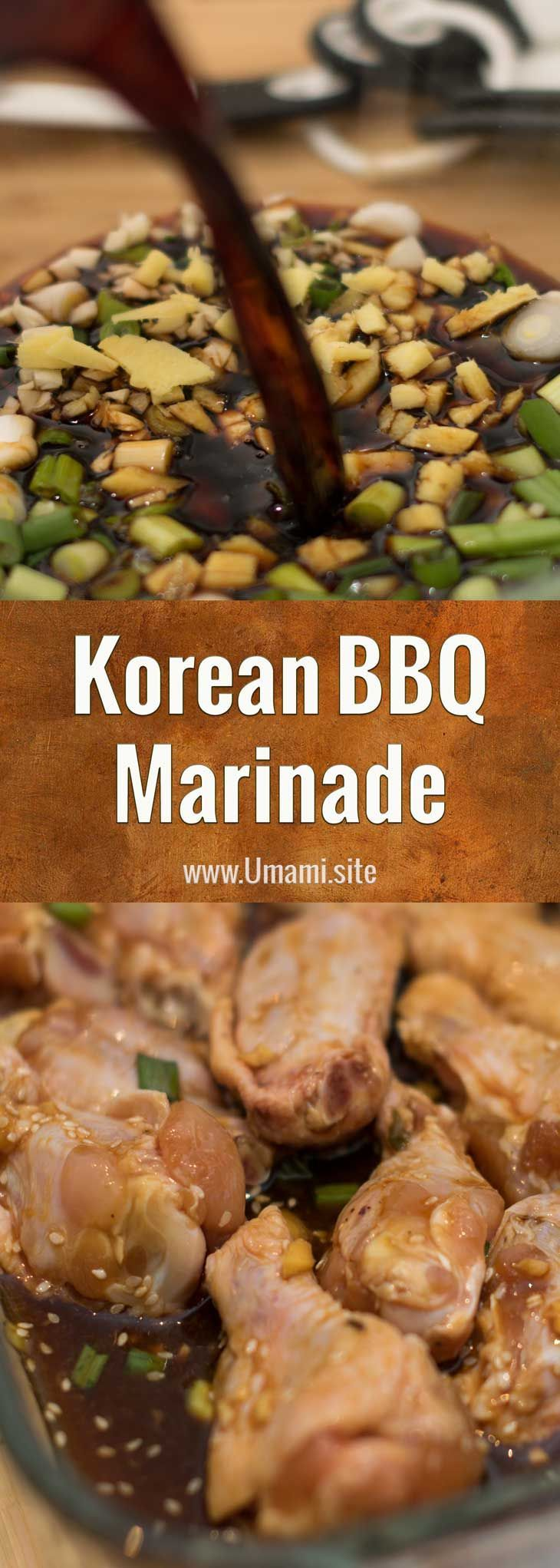 Korean BBQ Marinade -  Our take on a traditional Korean BBQ marinade uses and green onions to infus
