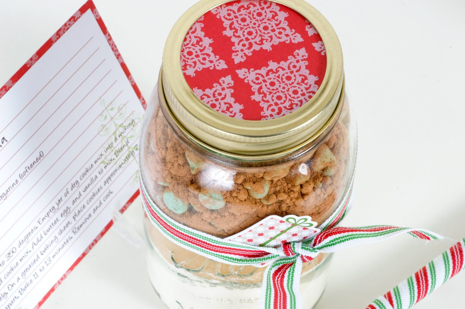 Sei lifestyle cookie mix in a jar printable recipe card gift