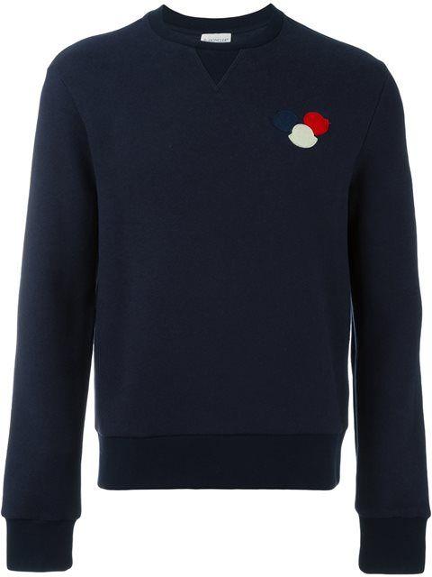 Moncler · MONCLER Logo Plaque Sweatshirt.