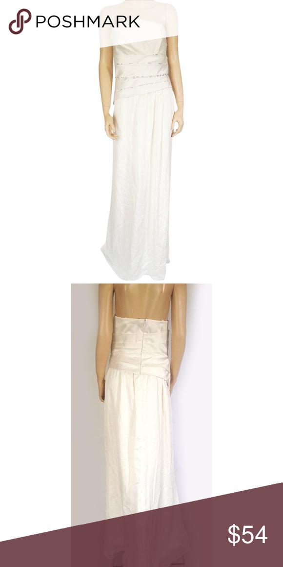 c1459de2c76 Dress Cream White Faux Pearls Maxi Description  New Max and Cleo Dress  Cream White Faux