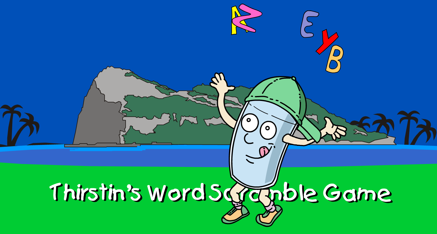 Play Thirstin S Word Scramble Game For More Fun Water Related Games And Activities Visit