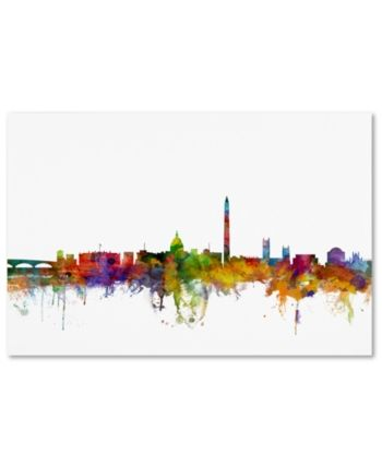 Trademark Global Michael Tompsett Washington Dc Skyline Ii Canvas
