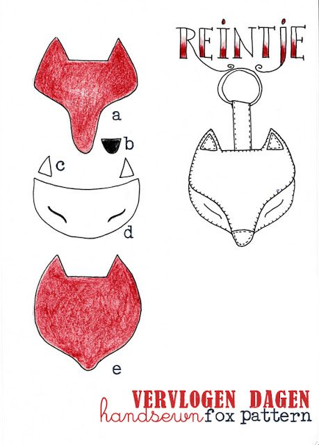 fox pattern for a key ring