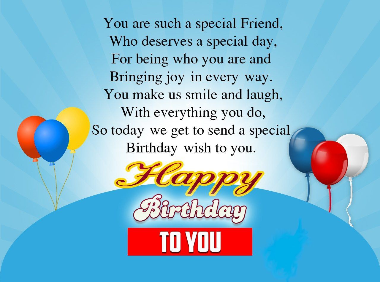 Birthday wishes for a special friend sad poetry pinterest sending special wishes to my dear friend kristyandbryce Gallery