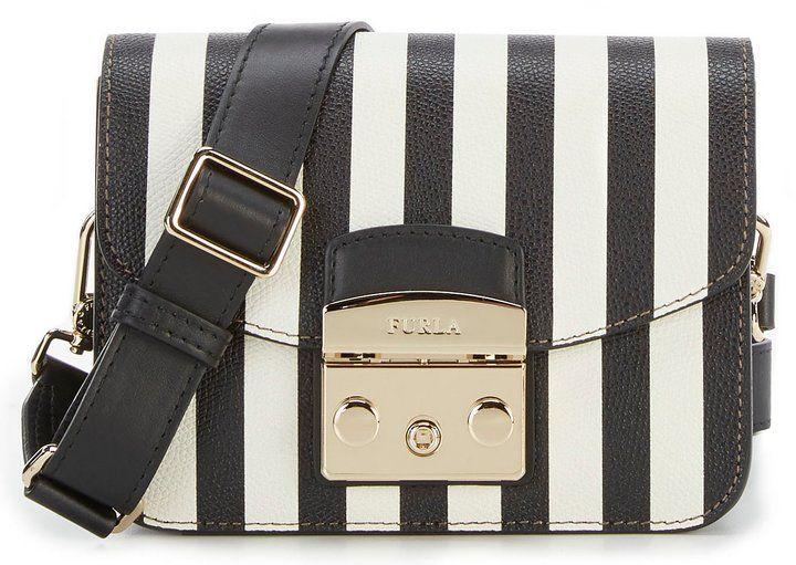 Furla Metropolis Striped Mini Cross-Body Bag