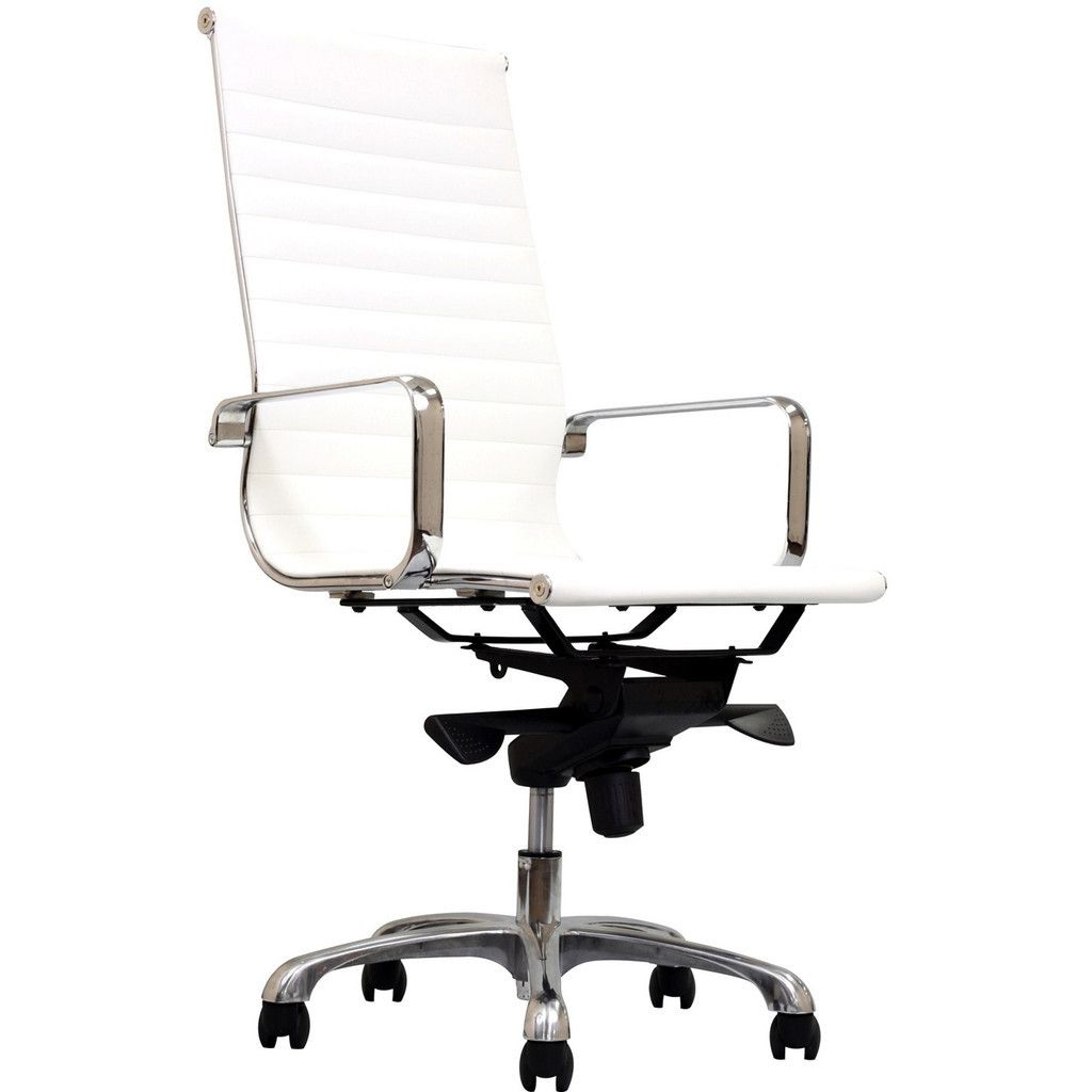 Suits High Back Office Chair In White Stylish And Modern Works