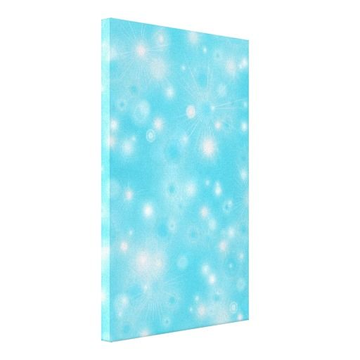 Holiday snowflakes white and blue winter pattern canvas print