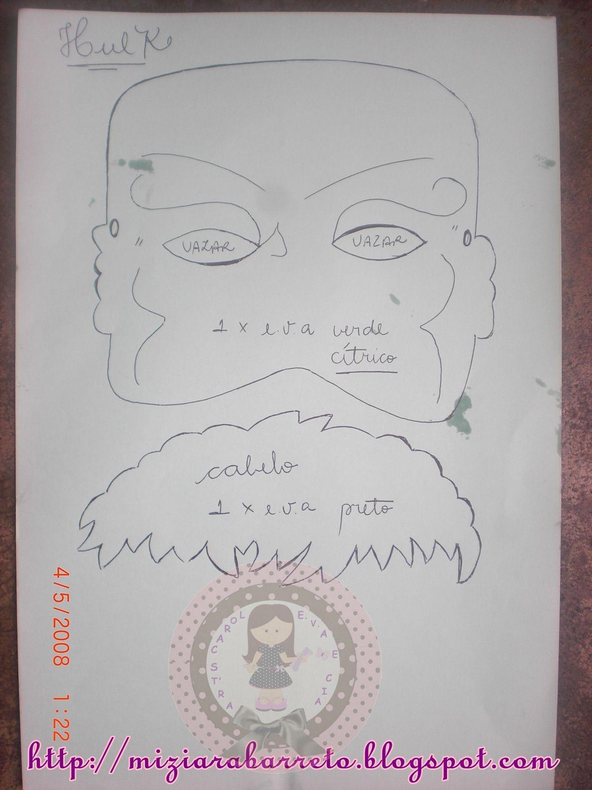 molde máscara vingadores - Pesquisa Google