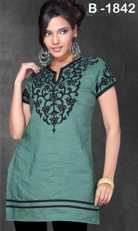 520a4b7a9e8 short sleeve kurta   fashion   Tunic tops, Kurti, Tunic blouse