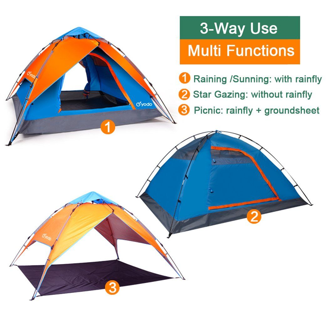 Amazon.com Yodo Lightweight 3-Way Pop Up Instant Tent for C&ing -  sc 1 st  Pinterest & Amazon.com: Yodo Lightweight 3-Way Pop Up Instant Tent for Camping ...