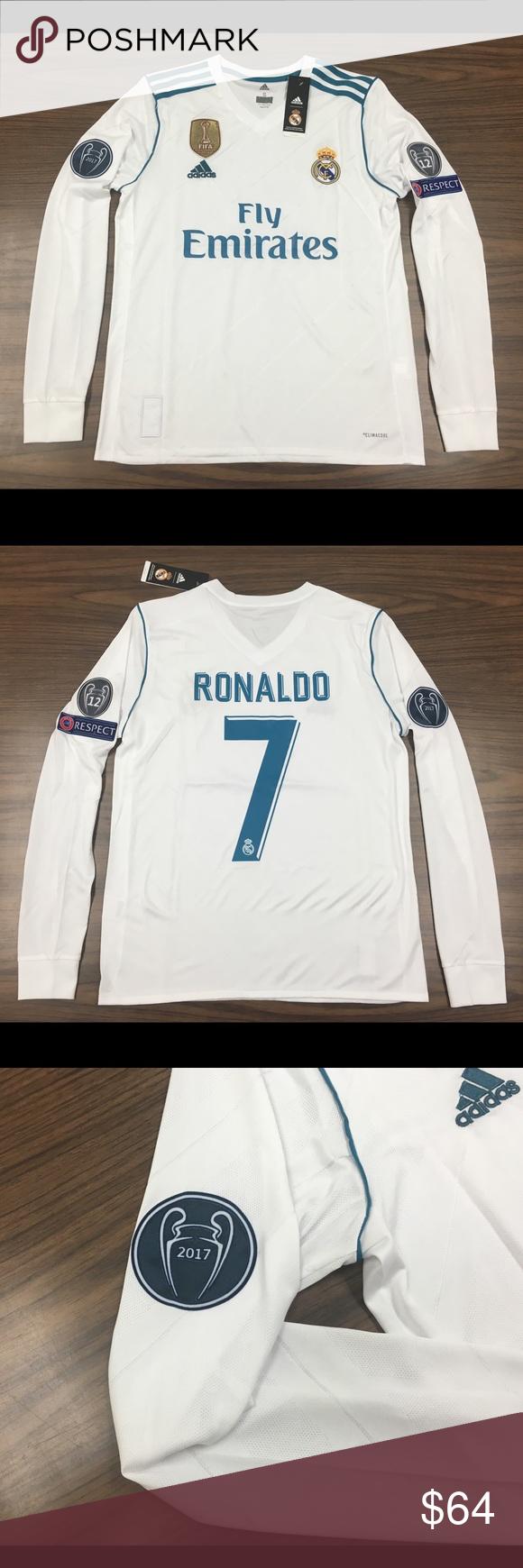 half off aeaba 270b9 Real Madrid Ronaldo White long sleeve jersey 2017 Arguably ...