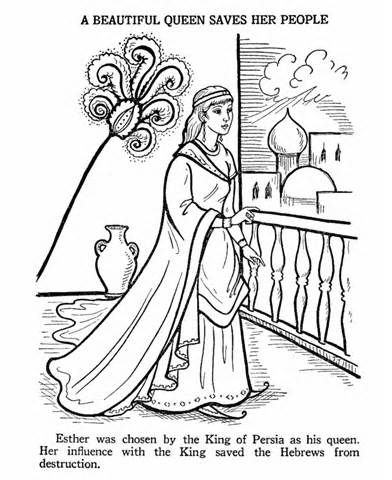 Esther Bible Coloring Pages | coloring II | Pinterest