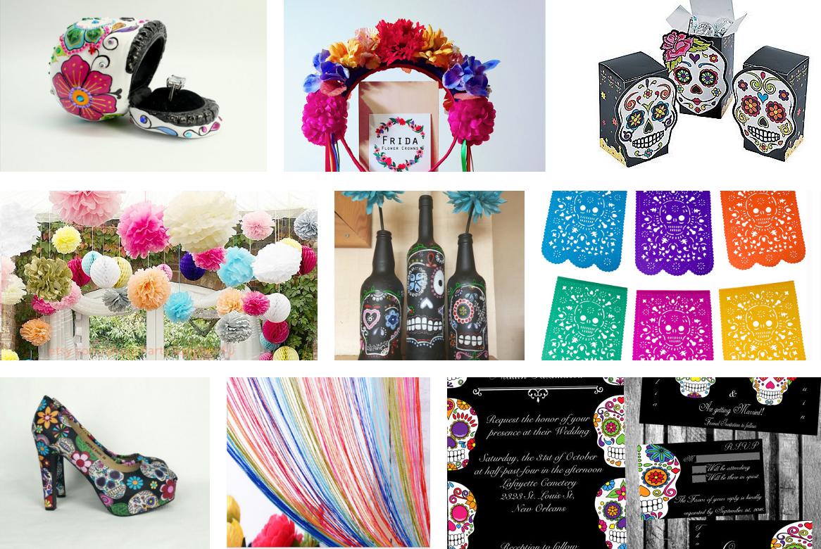 Day of the Dead Themed Wedding - top 9 theme ideas | I do - Dia De ...