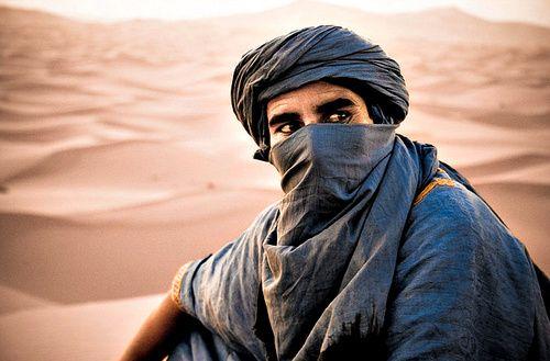 Africa: Amazigh berber nomad, Sahara desert, Morocco. Berbers are the indigenous…