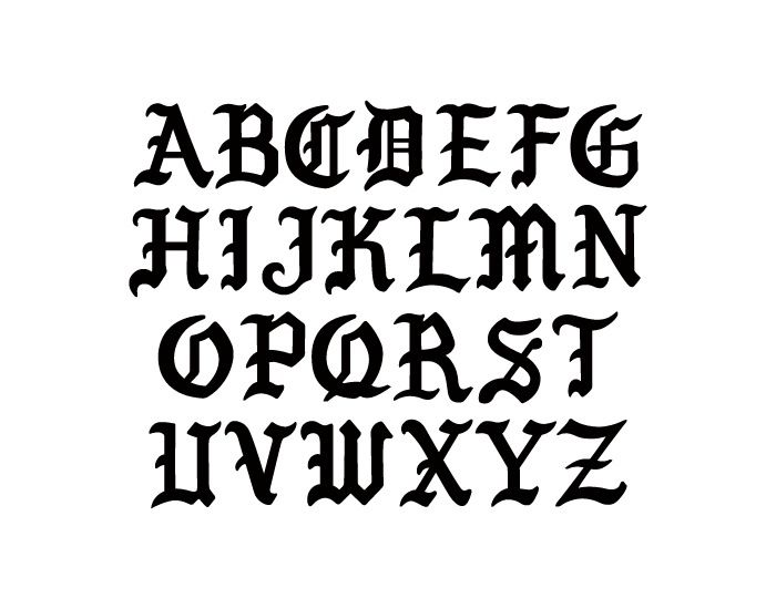 Simplified Gothic Font Uppercase A