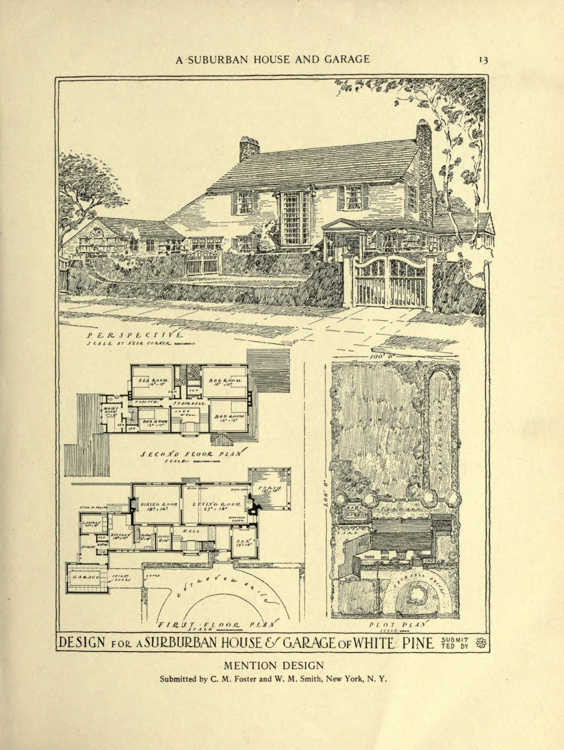 an architectural monograph on a suburban house english style