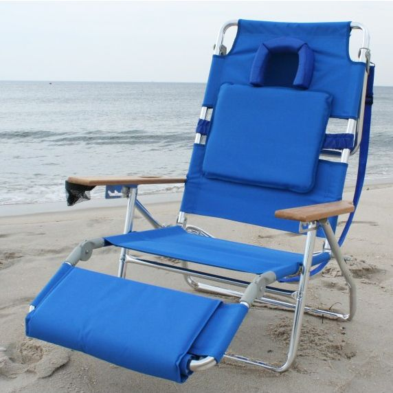 Ostrich 3n1 Face Down Deluxe Lounger Blue Beach Chairs Blue