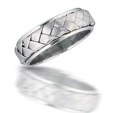 Platinum wedding ring by Novell.