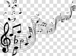 Music Notes Drawing Music Notes Background Transparent Background