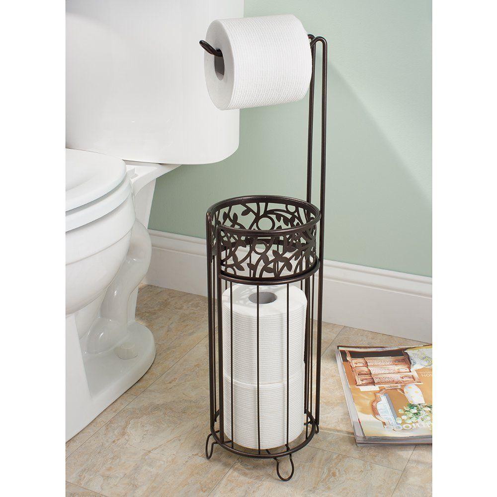 Amazon Com Interdesign Vine Free Standing Toilet Paper Holder For Bathroom Toilet Paper Holder Free Standing Toilet Paper Holder Toilet