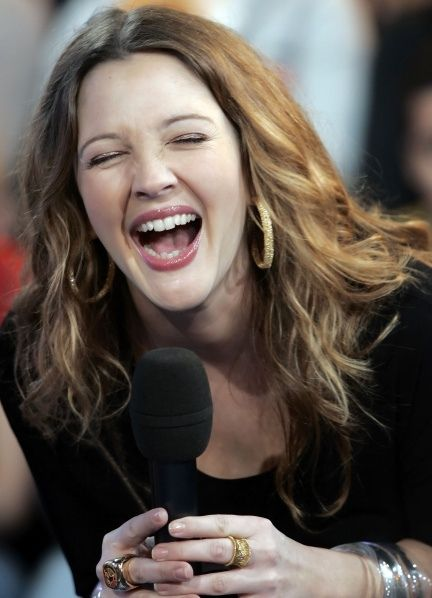 Drew Barrymore is always ready for a Belly Laugh