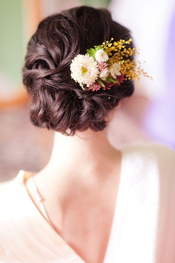 Considering adding fresh flowers in your hair Wedding Flower