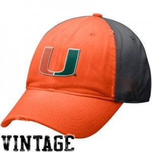 Nike Miami Hurricanes Orange-Gray Heritage 86 Mesh Swoosh Flex Hat  >>>  click the image to learn more...