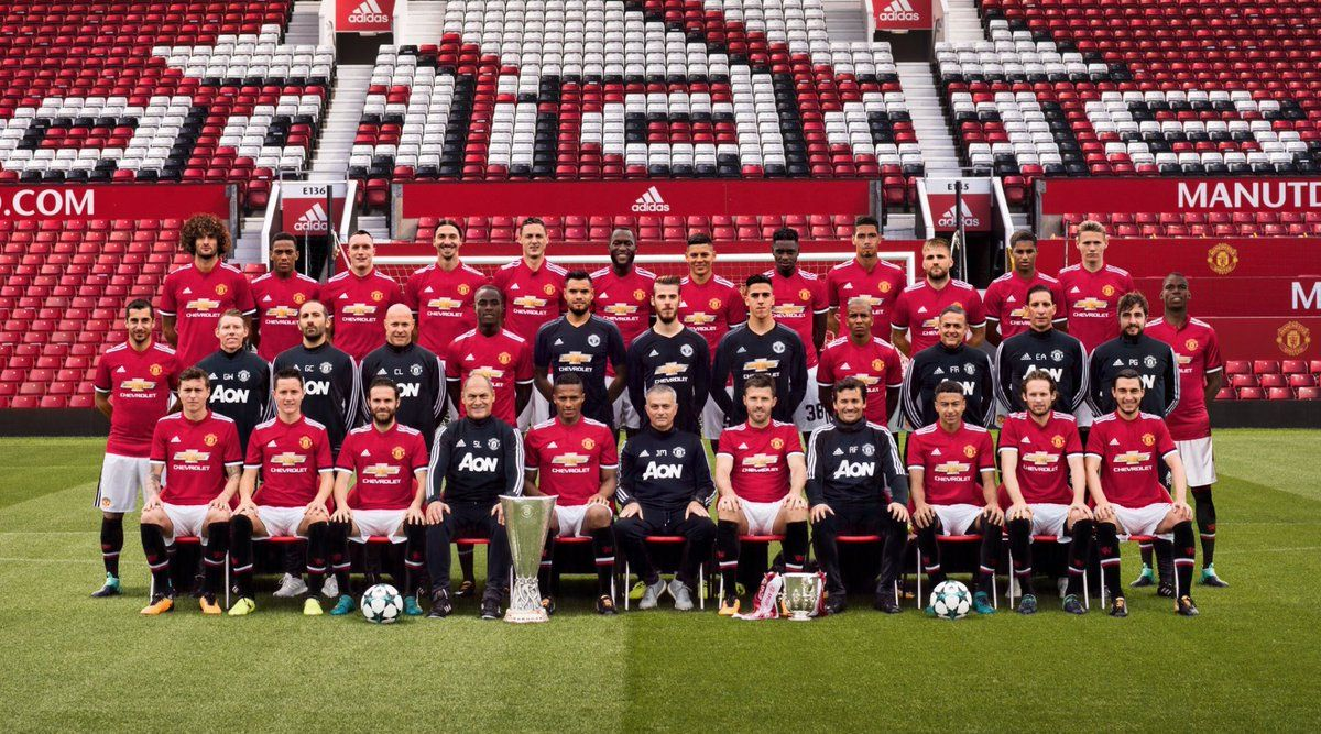 Mufc Squad 2017 2018 Manchester United Manchester United Team Manchester