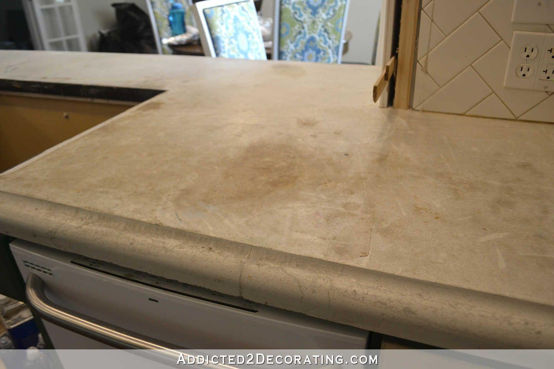 Refinishing My Concrete Kitchen Countertops – Part 1 | countertop ...
