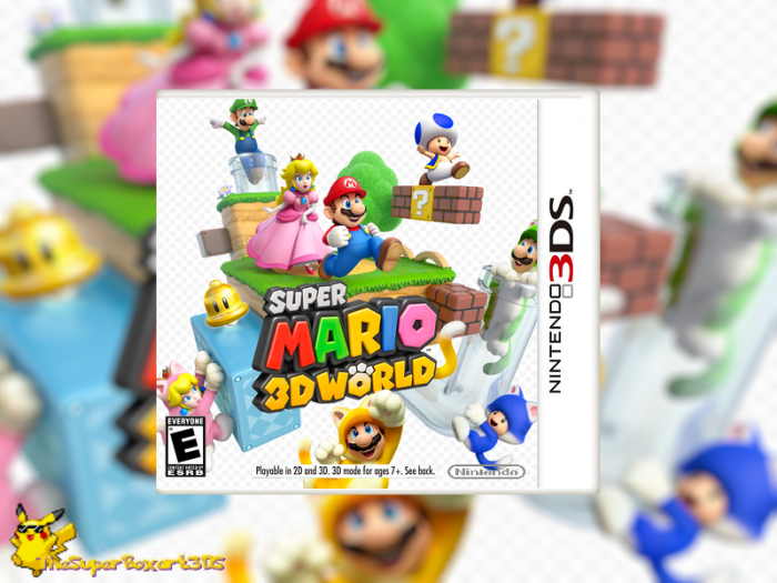 Super Mario 3d World Nintendo 3ds Box Art Cover By Thesuperboxart3ds