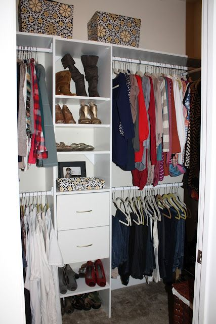 One Wall Of Closet And Then Shelves And Place For Laundry Basket