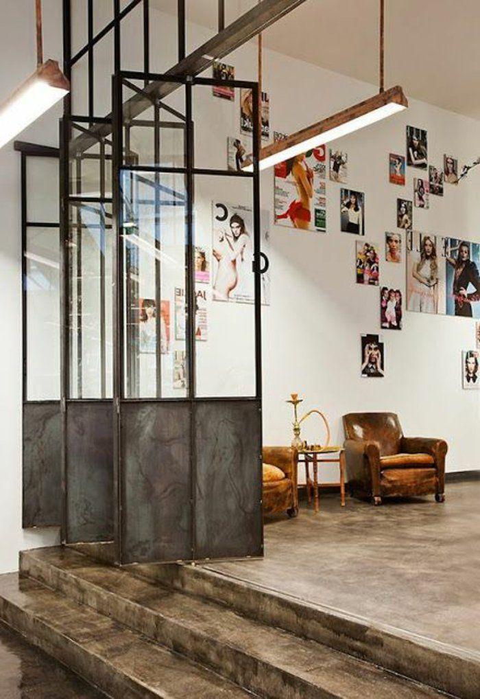 53 photos pour trouver la meilleure cloison amovible! Coworking - porte coulissante style atelier