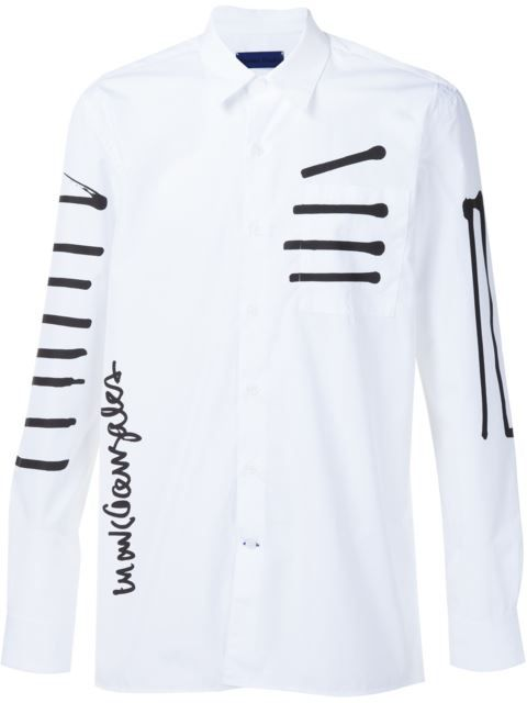 ETUDES STUDIO Études Studio x Mark Gonzales stripe print shirt. #etudesstudio #cloth #shirt