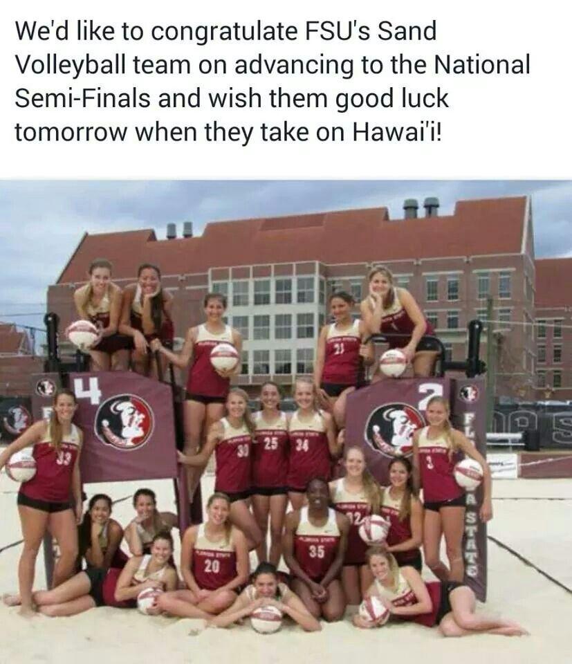 Fsu S Sand Volleyball Team Volleyball Team Fsu Florida State Seminoles