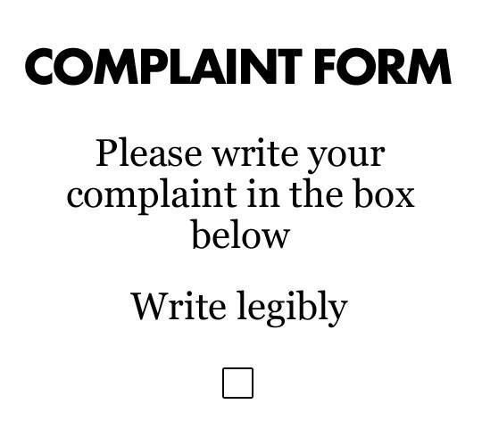 Anti Complaint Form Better yet, keep it to yourself ) Humor - complaint form
