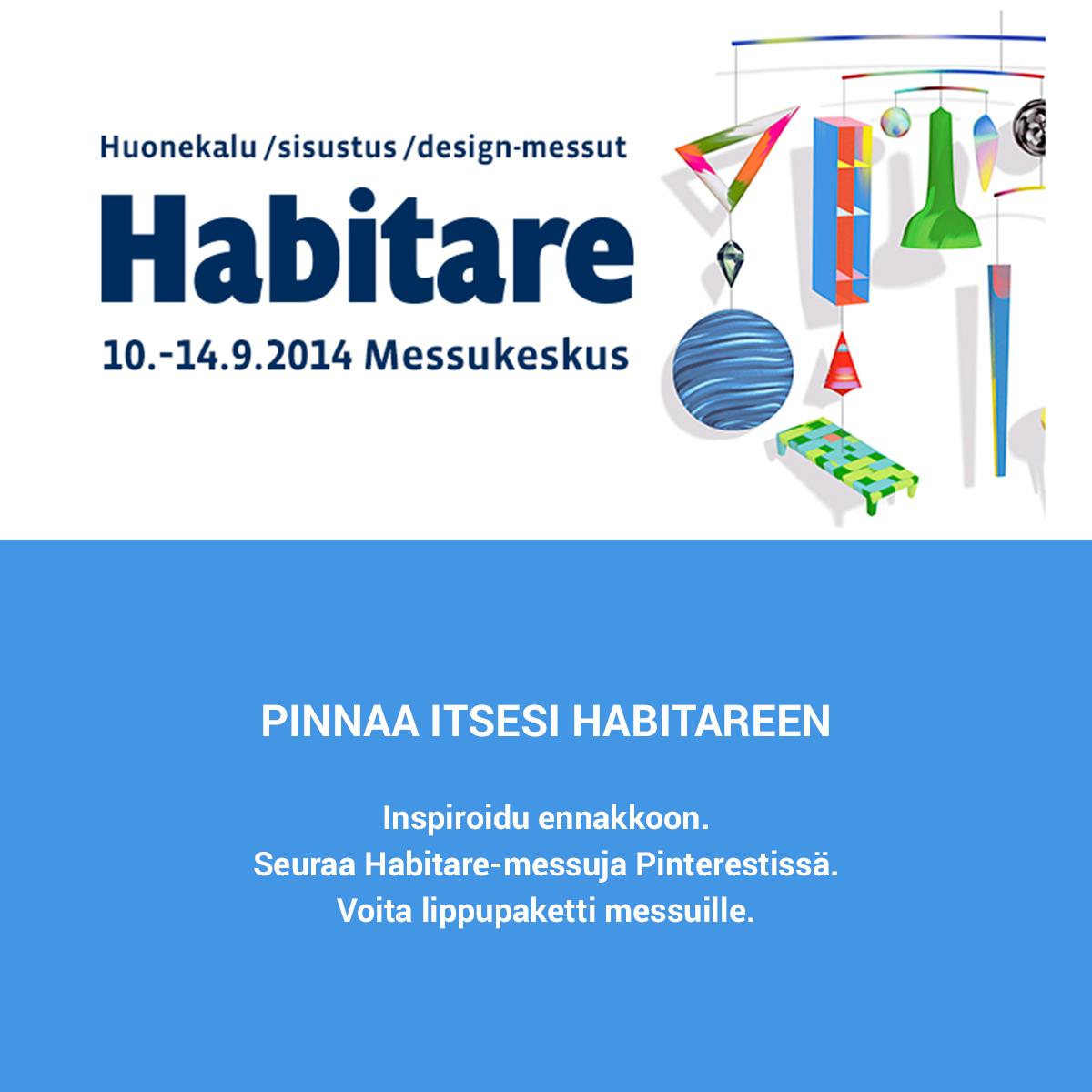 Inspiroidu Habitaresta ennakkoon. Osallistu! #habitare2014 #design #sisustus #messut #helsinki #messukeskus