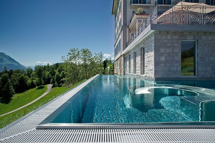 Cool Pool Edgeless Endless On Mtn View 5 Star Villa Honegg Luxury