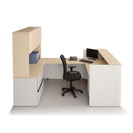 Concept 400E by Lacasse QS400E-PLAN06 Office reception desk workstation.  Available for online purchase at Ugoburo.ca