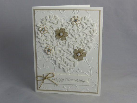 Stampin Up Handmade Greeting Card Custom Anniversary Card Etsy Anniversary Cards Handmade Greeting Cards Handmade Anniversary Cards For Wife
