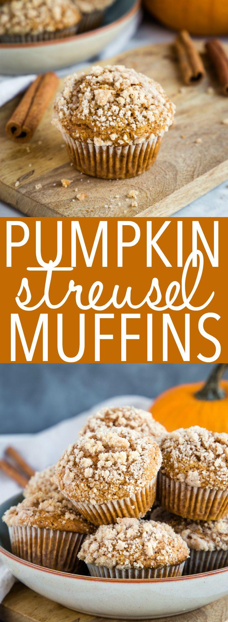 Pumpkin Spice Streusel Muffins #pumpkinmuffins