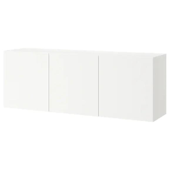 BESTÅ Kombinacja szafek ściennych, biały, Lappviken biały, …