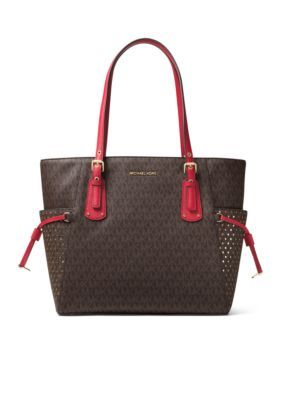 720a6f63c9 Michael Michael Kors Voyager Everyday Wear Signature Tote - Brown Burnt Red  - One Size
