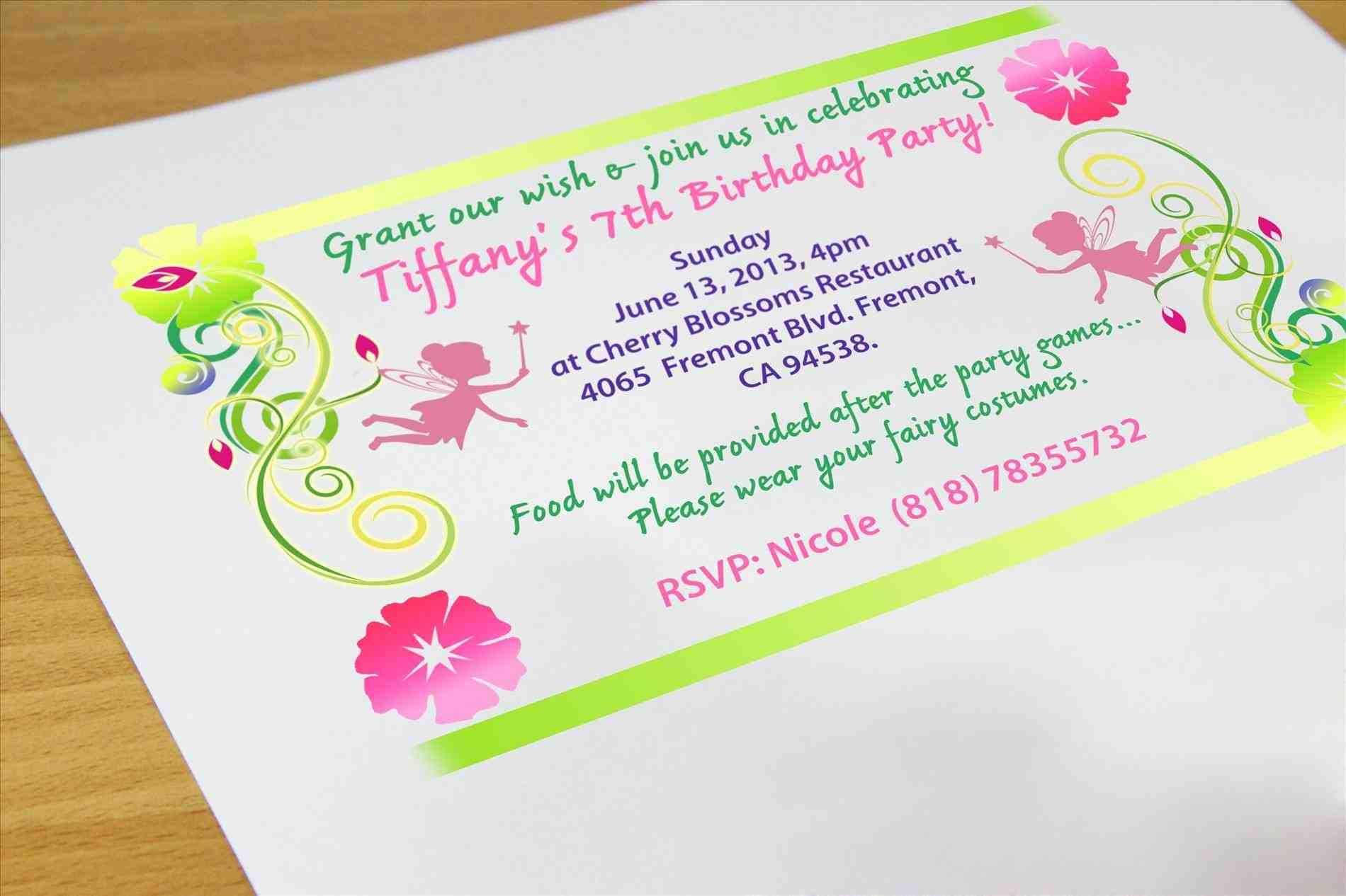 seventh birthday invitation wording - Forte.euforic.co