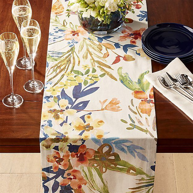 Artiste 120 Watercolor Table Runner Crate And Barrel