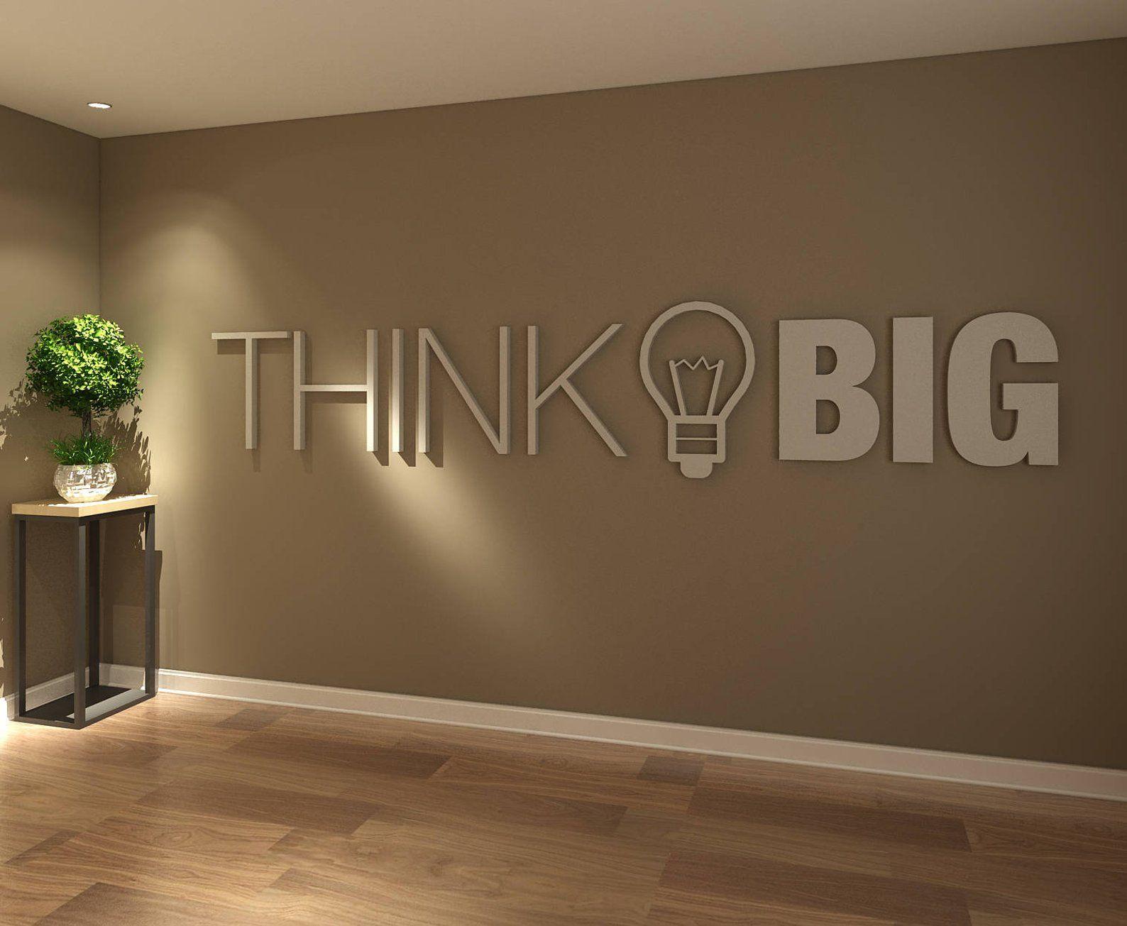 Décoration Murale Bureau Entreprise think big, bureau, deco bureau, décoration de bureau, bureau
