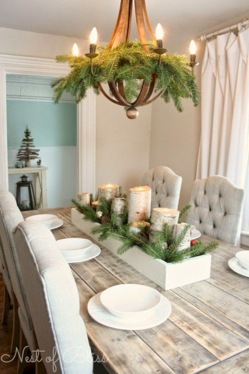 45 Minimalist Christmas Coffee Table Centerpiece Ideas